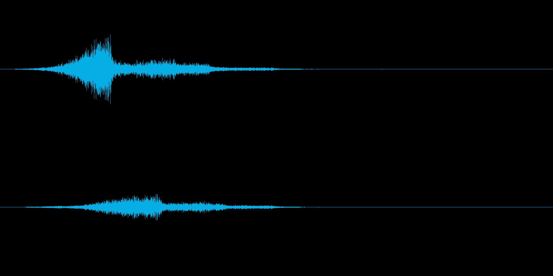 シューっと何かが通り過ぎる不気味な音の再生済みの波形