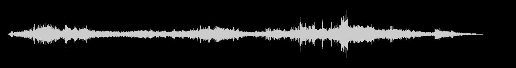 電磁波・電気がイメージのアイキャッチ音の未再生の波形