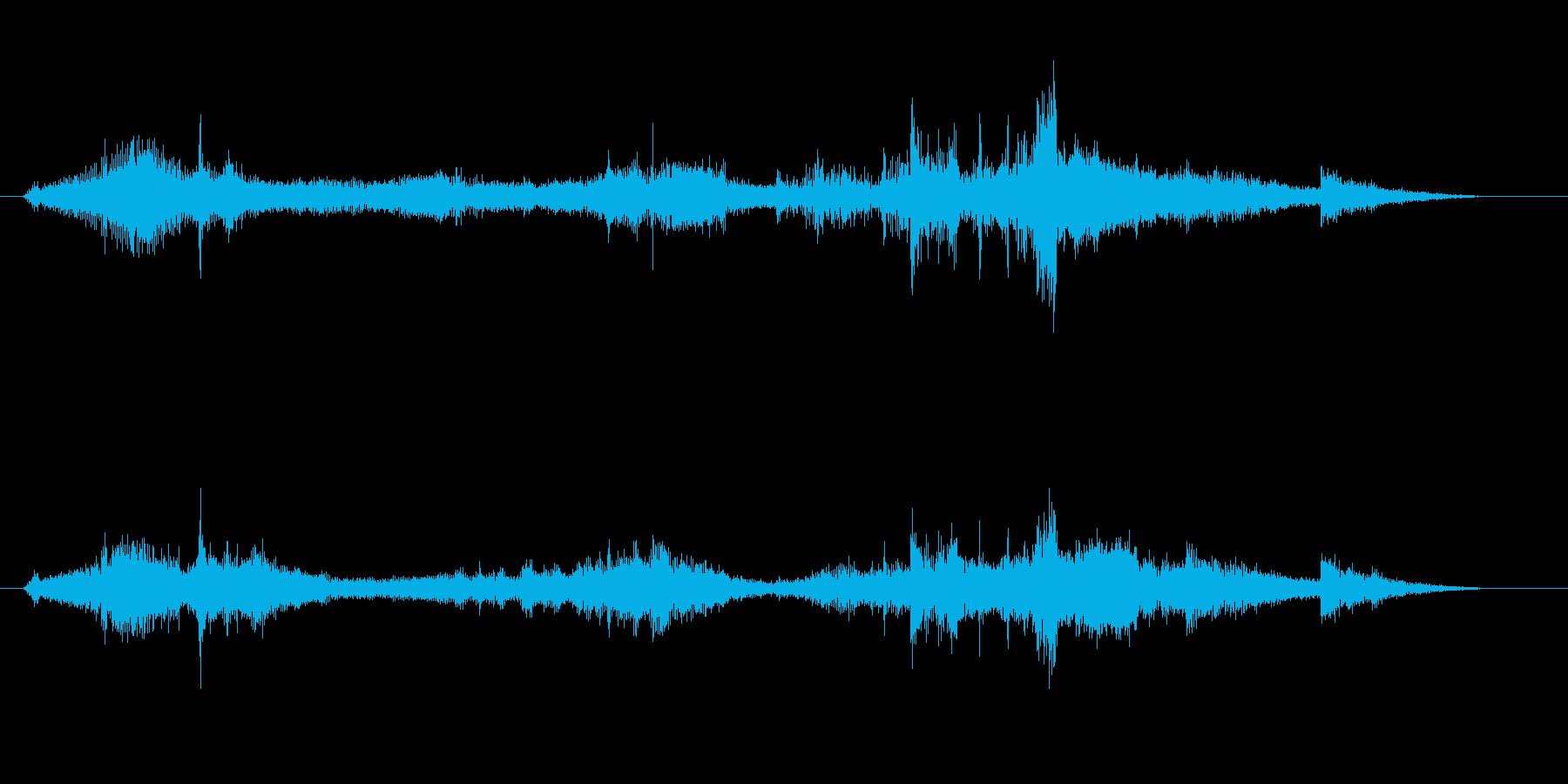 電磁波・電気がイメージのアイキャッチ音の再生済みの波形