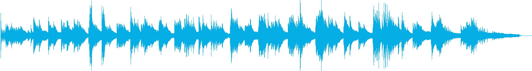 和風な雰囲気のピアノソロの再生済みの波形