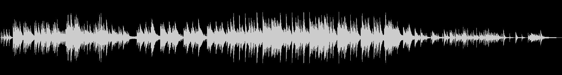 優しく儚げなピアノBGMの未再生の波形