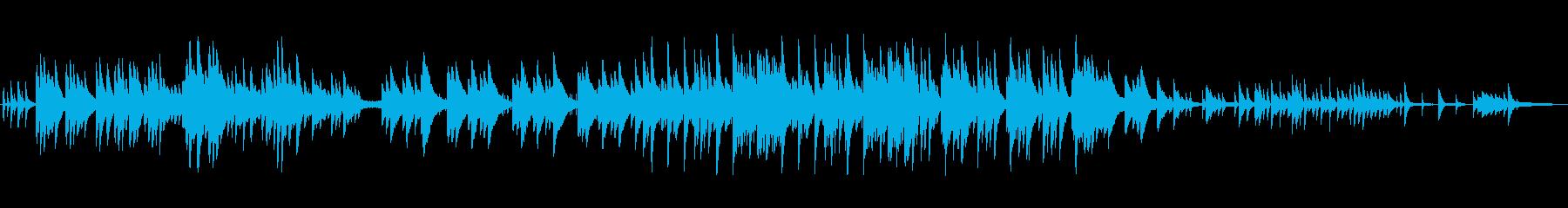 優しく儚げなピアノBGMの再生済みの波形