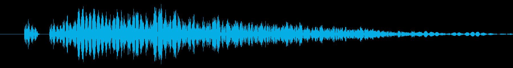 【打撃音08】パンチやキックに最適です!の再生済みの波形