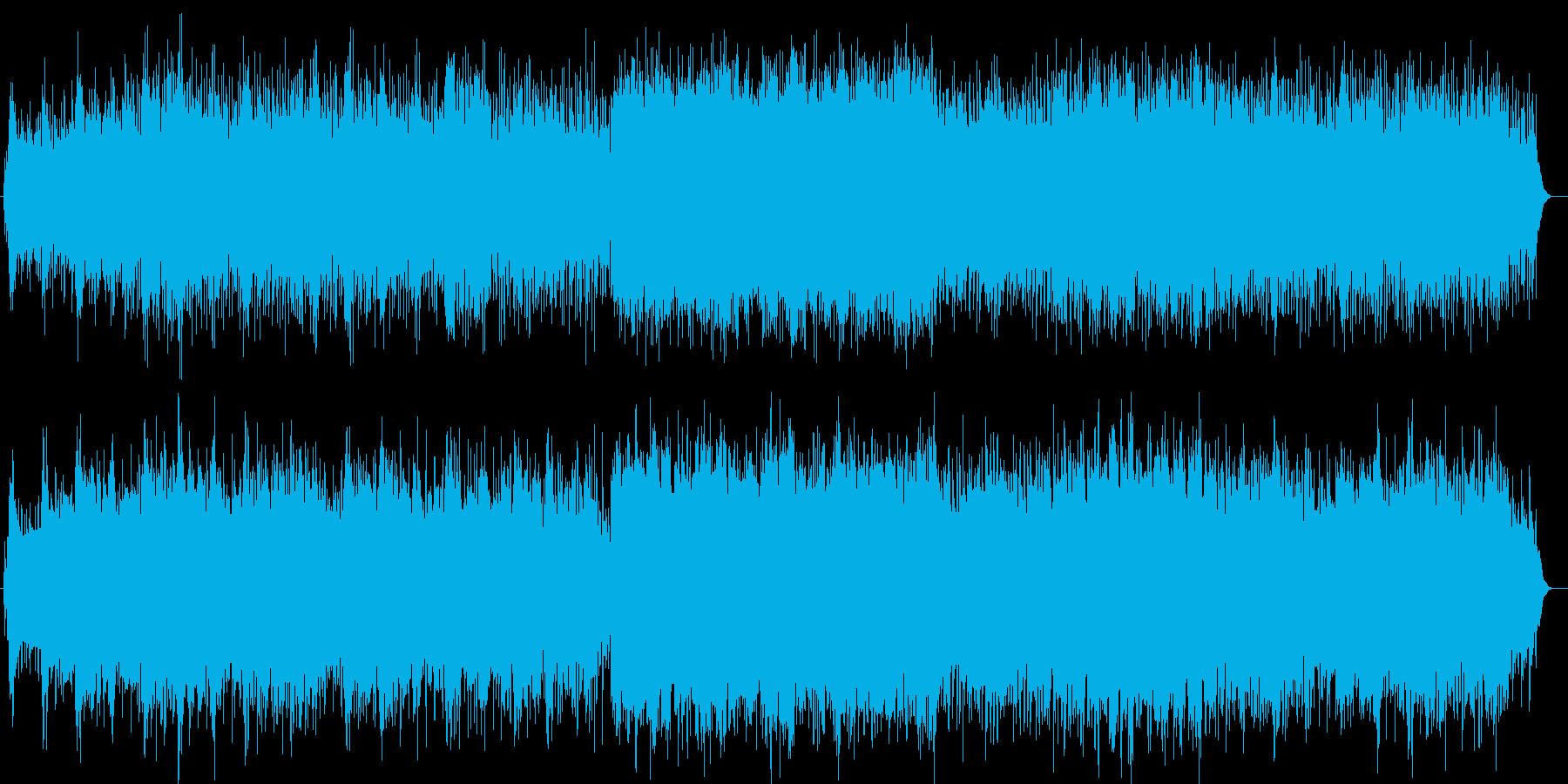 太陽と風を感じるシンセサイザー曲の再生済みの波形