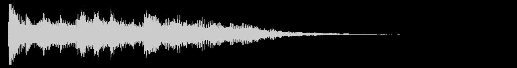 ピアノ  優しい雰囲気 ジングル01の未再生の波形