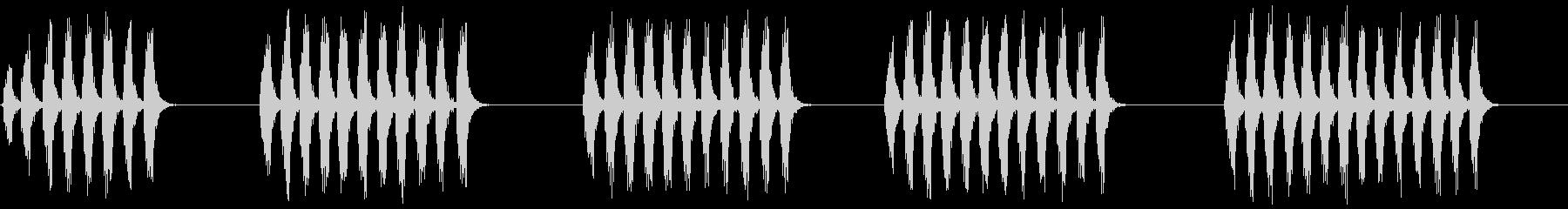 コオロギ 鳴き声 ギィギィギィ…×5の未再生の波形