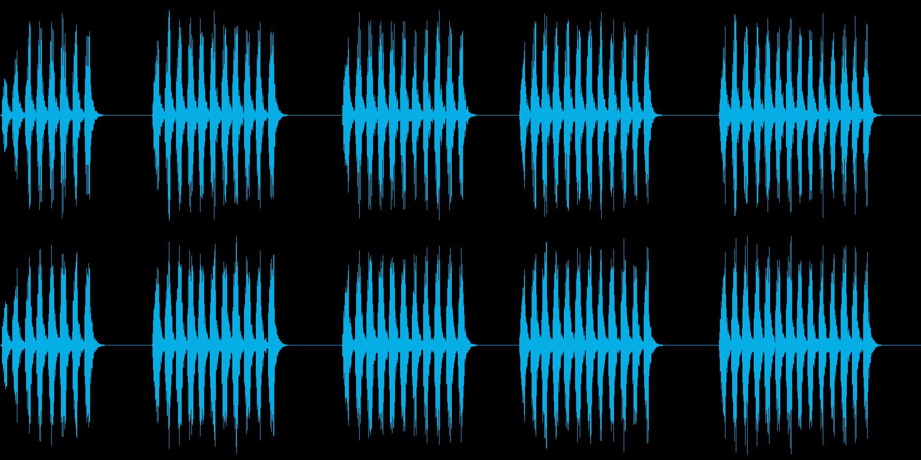 コオロギ 鳴き声 ギィギィギィ…×5の再生済みの波形