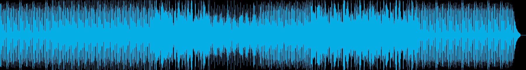 シンプルなエレクトロニカBGMの再生済みの波形