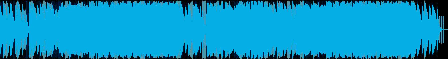 序章感のあるピアノコードが印象的なEDMの再生済みの波形