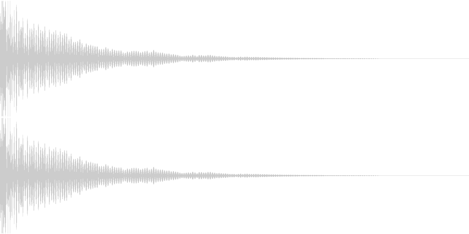 DTM Tom 25 オリジナル音源の未再生の波形