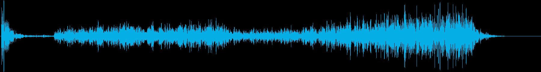 【生録音】テーブルを引っ掻く音 1の再生済みの波形