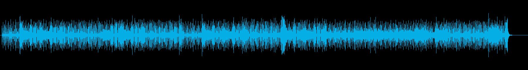 コミカルなシャッフル・テクノの再生済みの波形