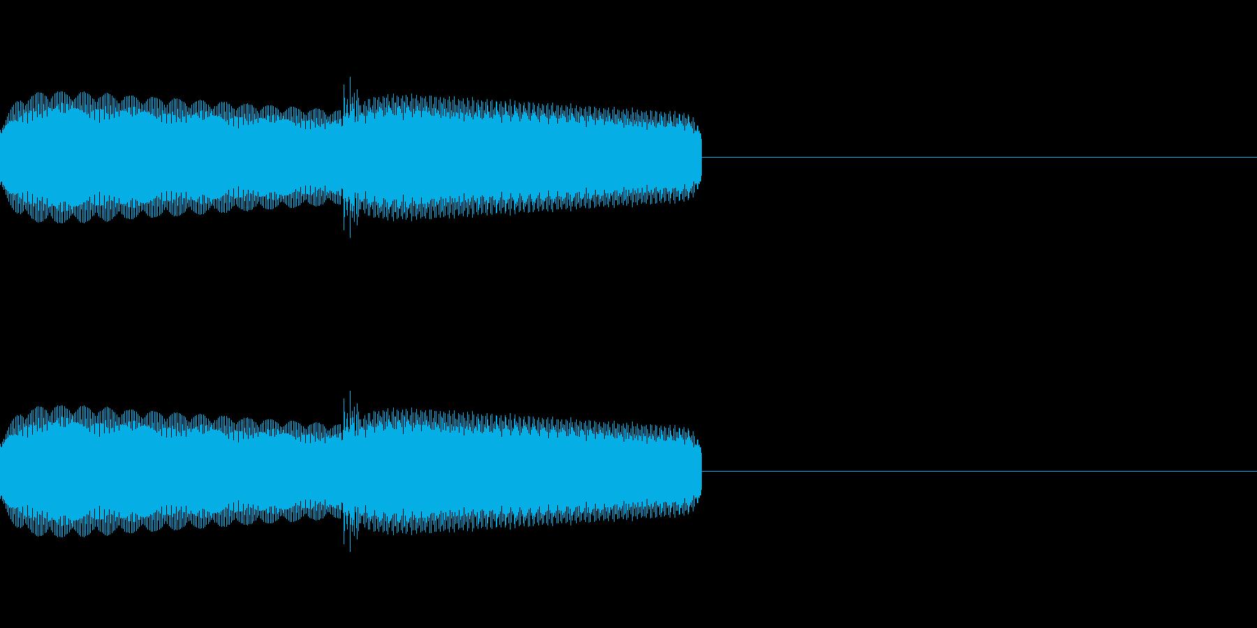 「ピキ」レトロゲーム風の氷、魔法、決定音の再生済みの波形