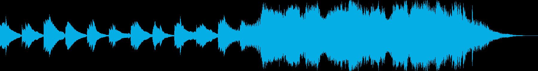 30秒/ピアノから始まりオーケストラへとの再生済みの波形