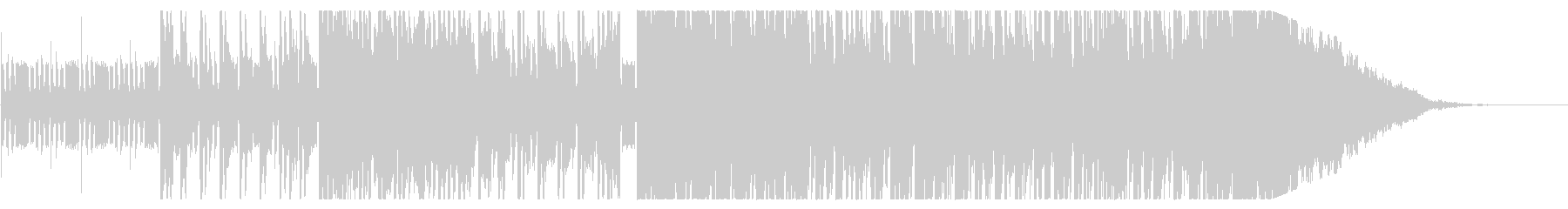 重厚感のあるEDMの未再生の波形