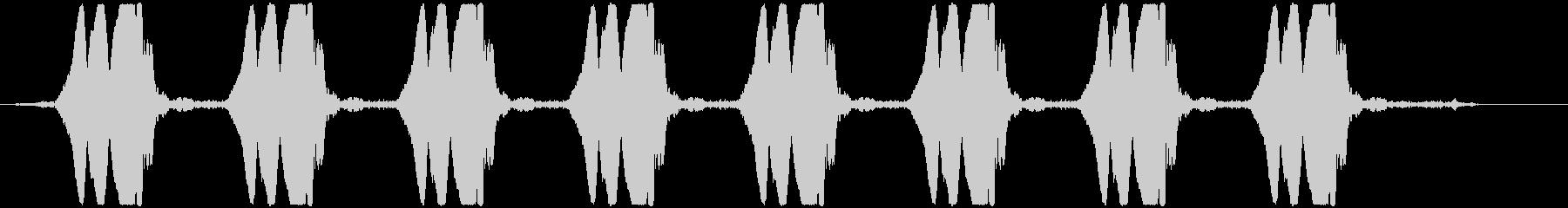 ヒヨヒヨヒヨ… 自主規制音(ピー音)の未再生の波形
