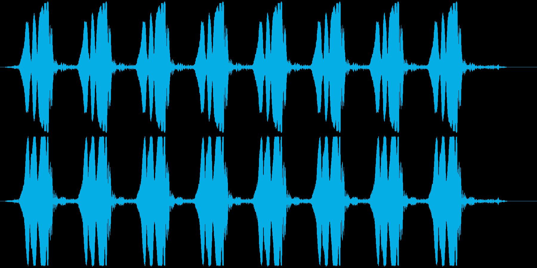 ヒヨヒヨヒヨ… 自主規制音(ピー音)の再生済みの波形