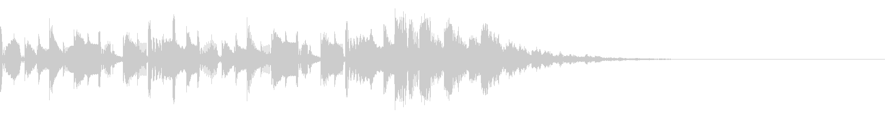 ラジオのアイキャッチ風ショートジングルの未再生の波形