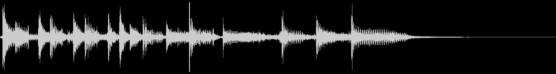 80'スラップベースのファンキージングルの未再生の波形