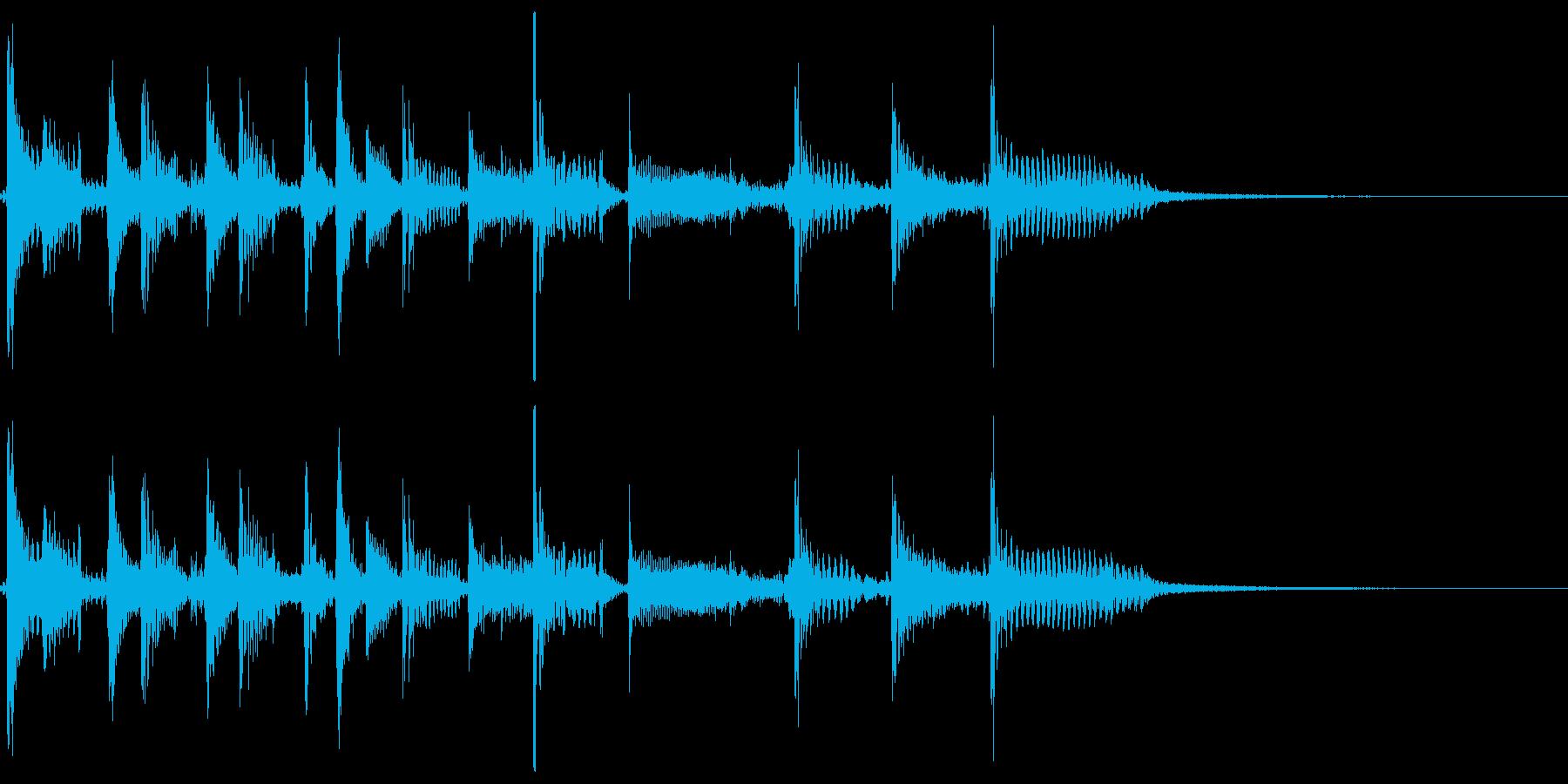 80'スラップベースのファンキージングルの再生済みの波形