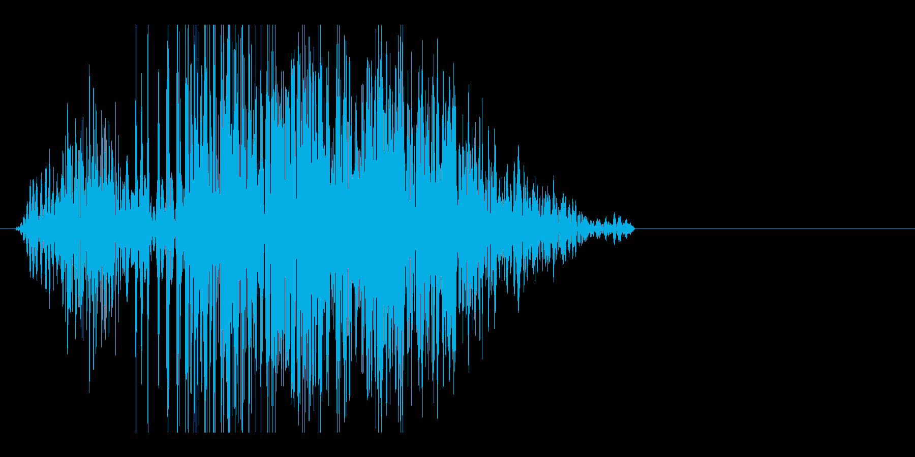 ビシィッ(殴る音・中)の再生済みの波形
