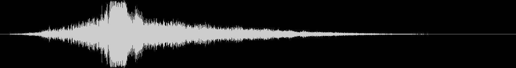 シネマティックサウンドFX_タイトルロゴの未再生の波形