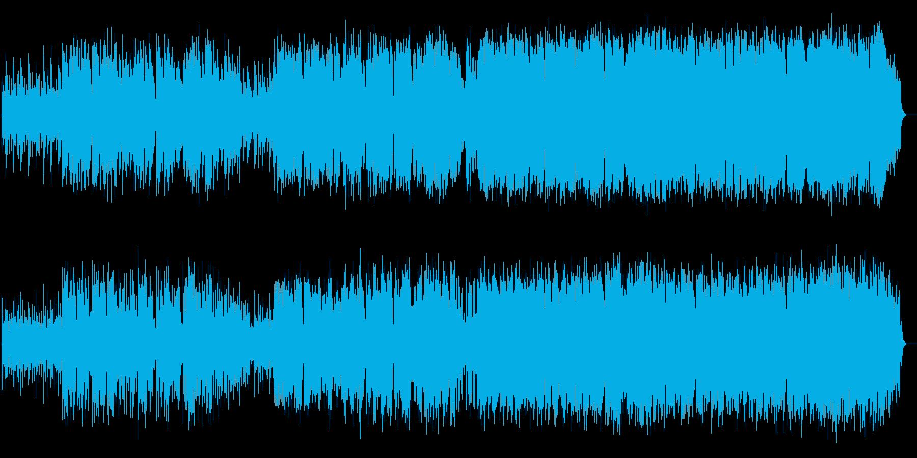 和風で民謡風のバラードの再生済みの波形