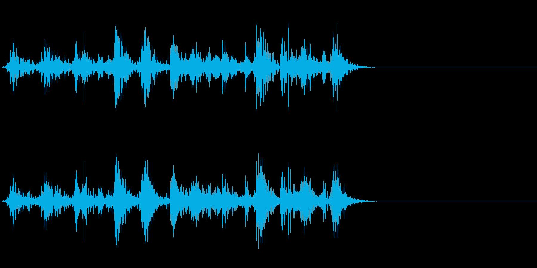 ブクブク!泡や水など特有の効果音!01の再生済みの波形
