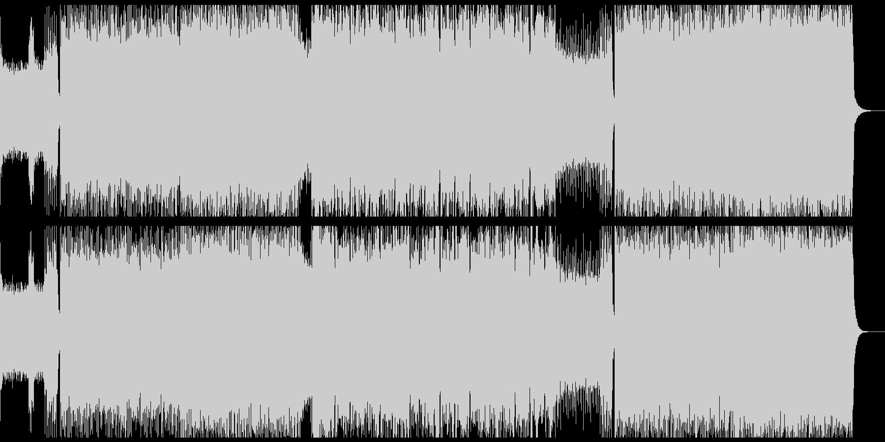 激しいエレキギターのデスメタル風バトル曲の未再生の波形
