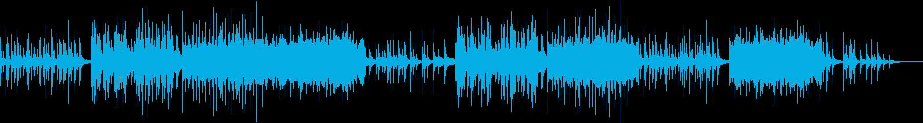 儚げなピアノと琴の和を感じるシンプルな曲の再生済みの波形