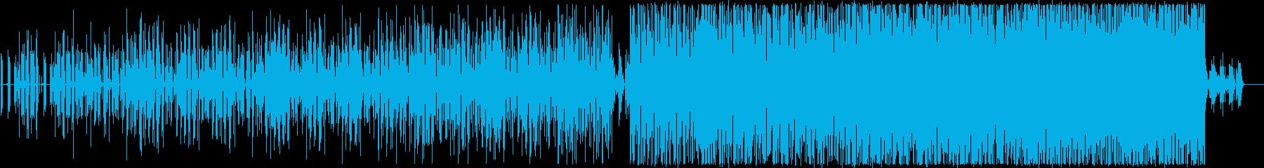このユニークで抽象的な音楽は、電子...の再生済みの波形