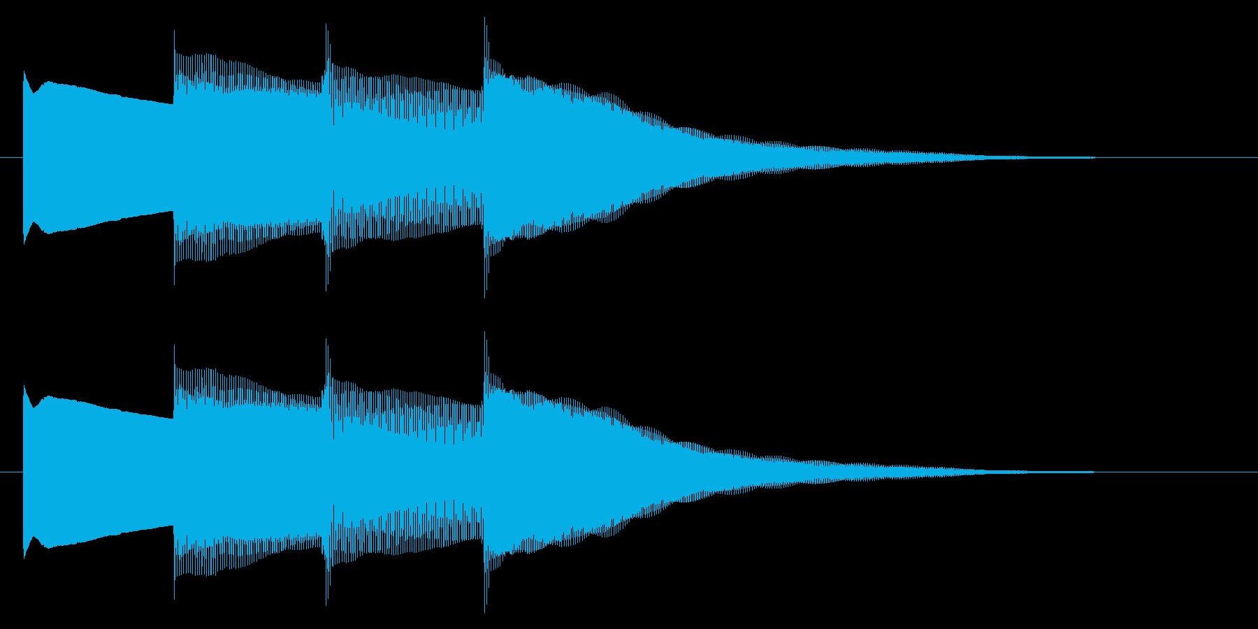 チャイム アナウンス07-1の再生済みの波形