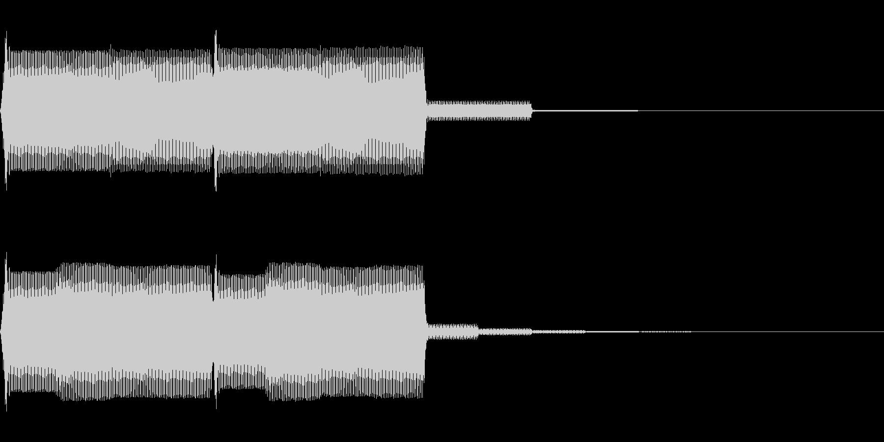 【SE】操作音07(ポポ)の未再生の波形