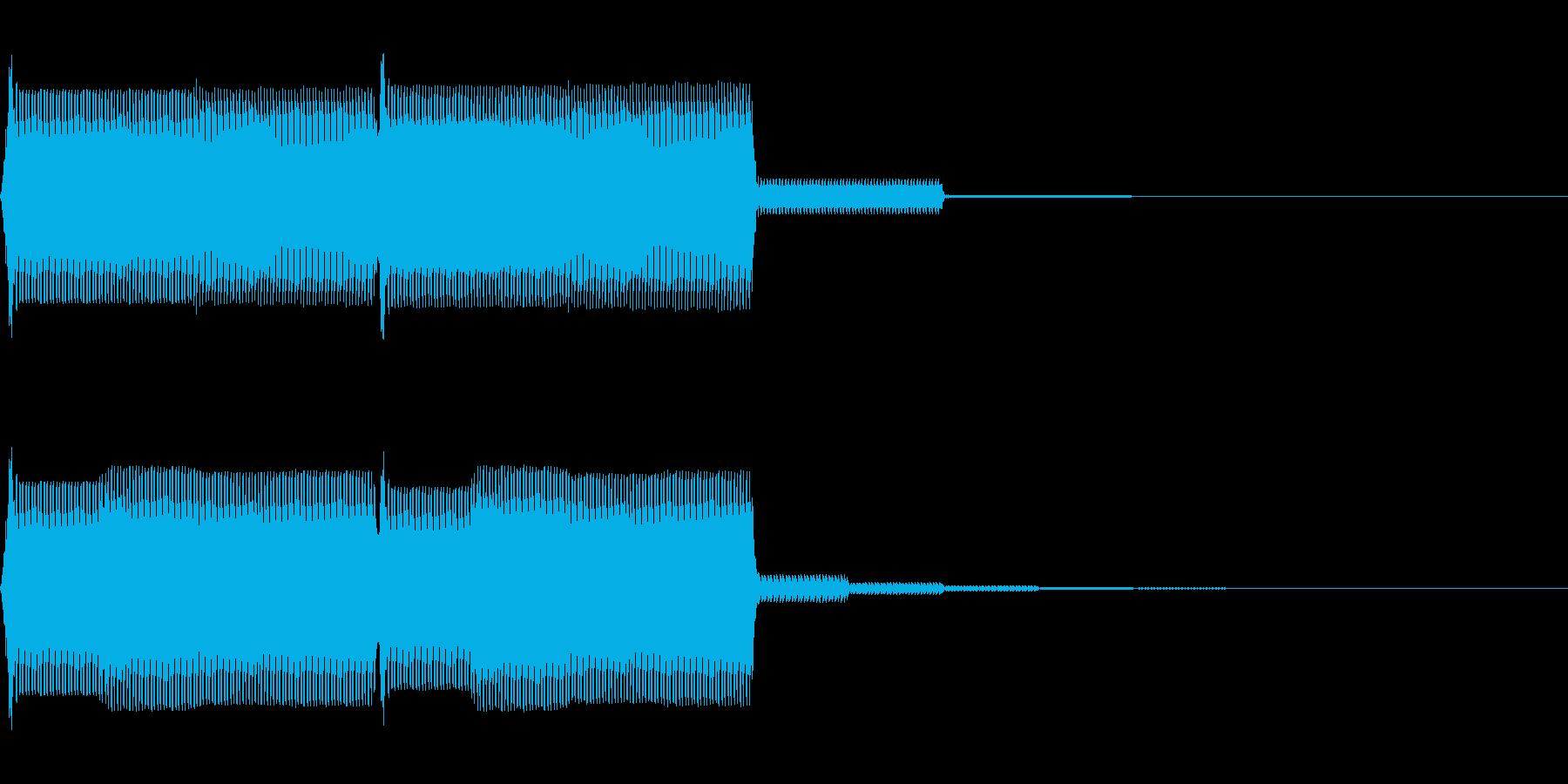 【SE】操作音07(ポポ)の再生済みの波形