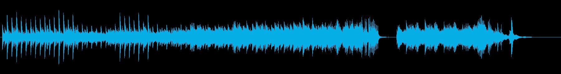 静かな美しい情緒的なピアノ曲、ヒーリングの再生済みの波形