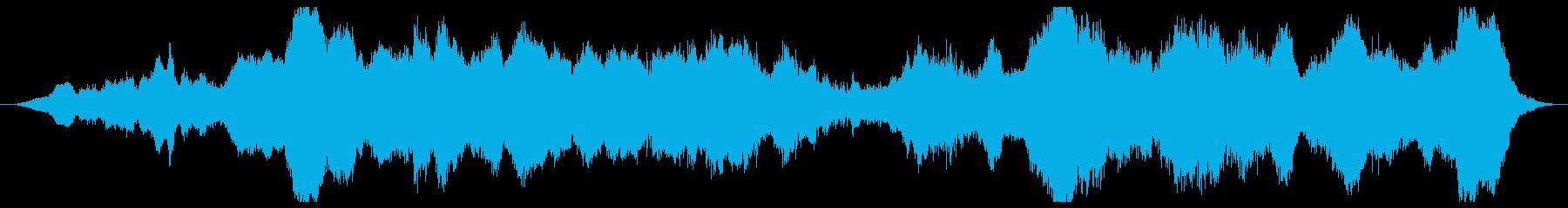 ノイジーで不穏なアンビエントの再生済みの波形