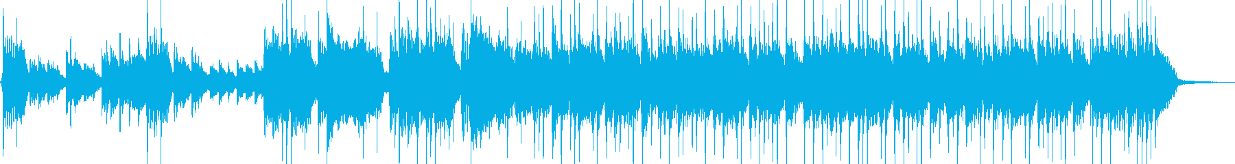 和風ロックリフとデジタルの融合ジングルの再生済みの波形