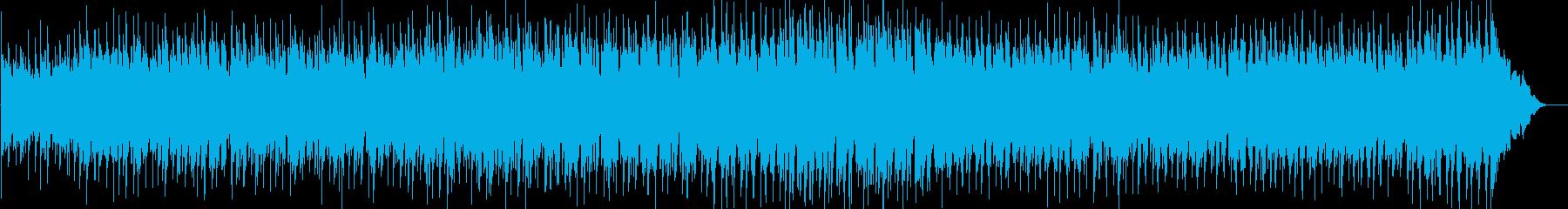 不安なシーンのBGMの再生済みの波形