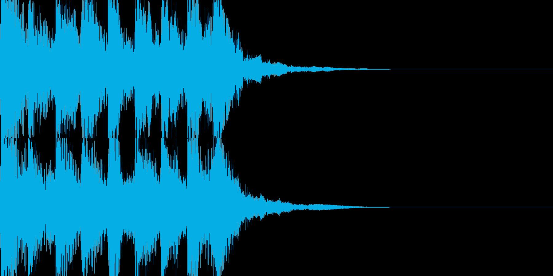 力強い和風ジングル 生演奏三味線の再生済みの波形