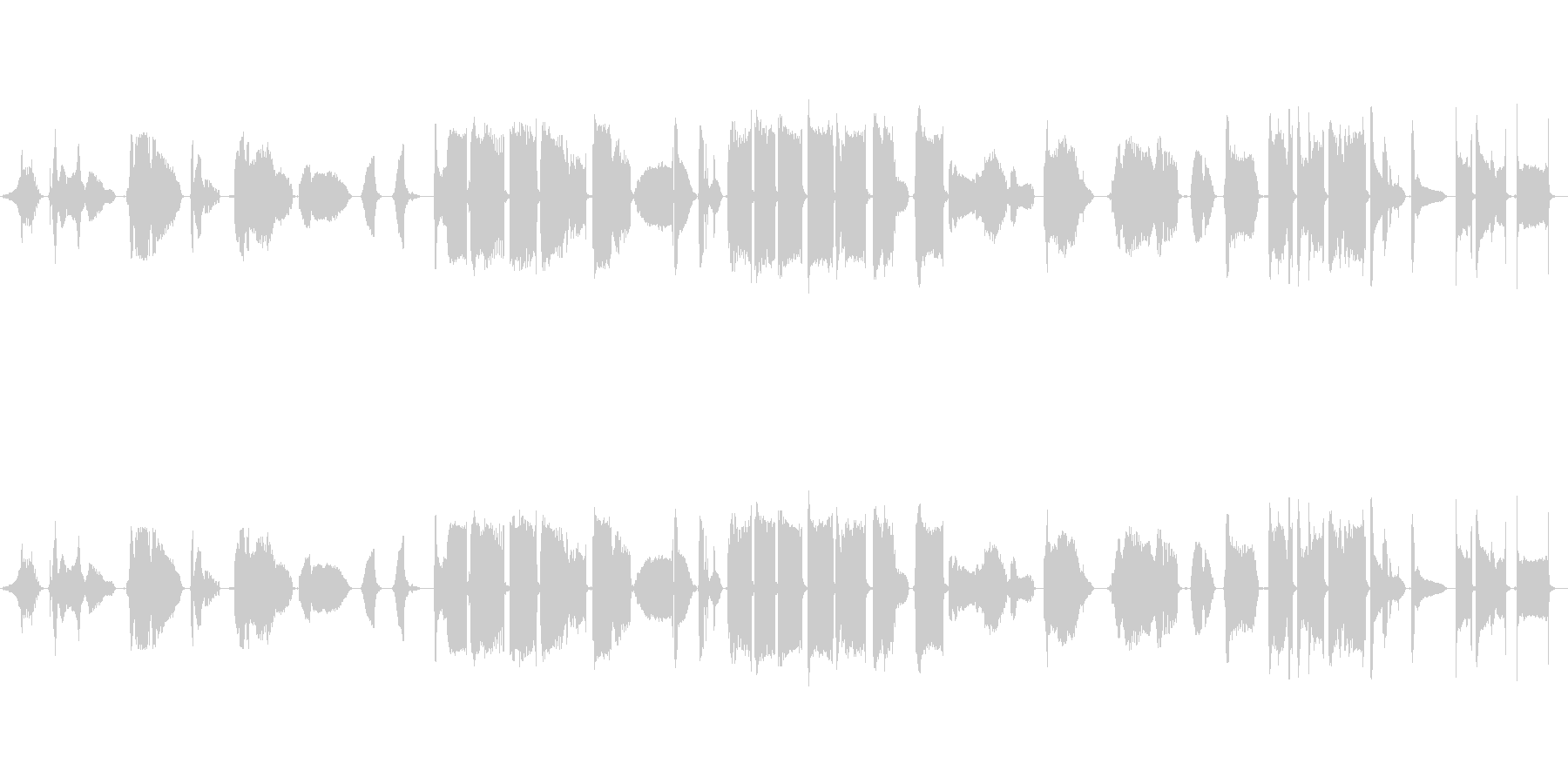 怪談をイメージした能管独奏の未再生の波形