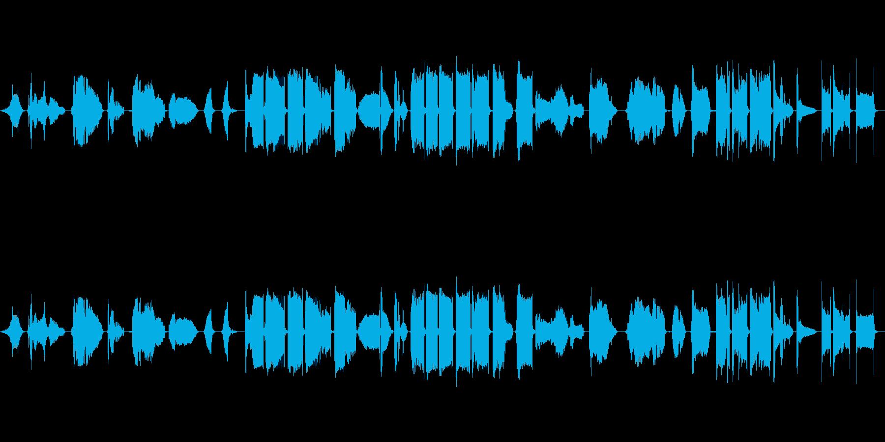 怪談をイメージした能管独奏の再生済みの波形
