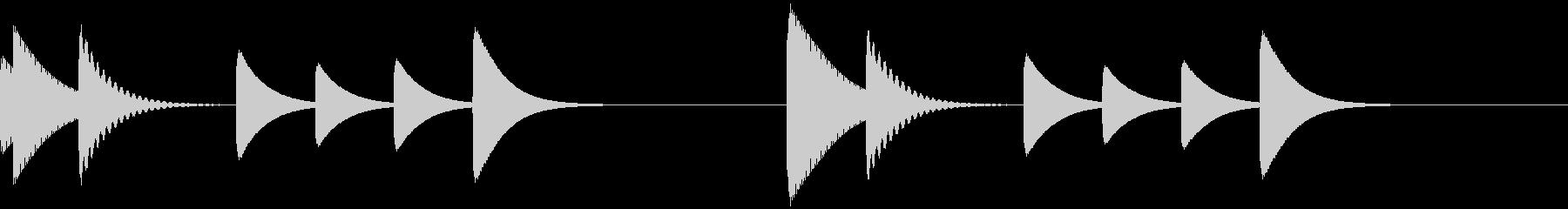 ポコポコ/コール/アラーム/トーン/1の未再生の波形