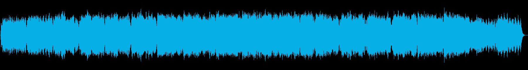 神聖な印象のオルガン・シンセサイザーなどの再生済みの波形