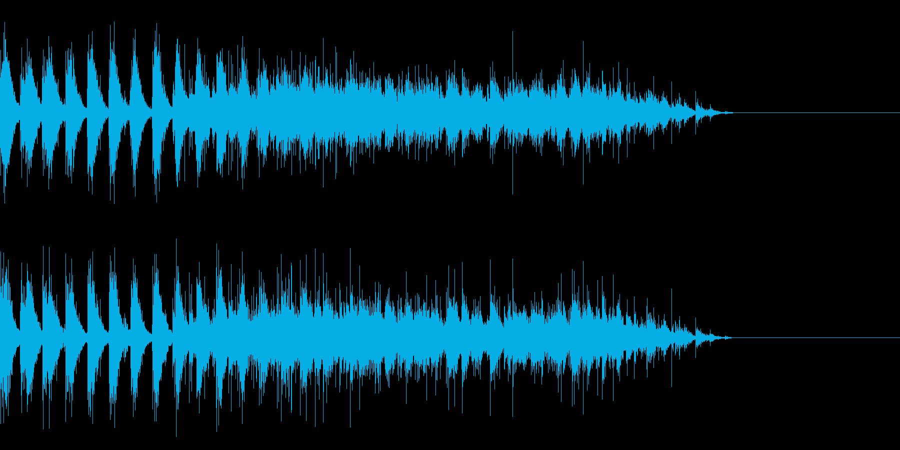 拍手(複数人でリズム手拍子からの拍手)2の再生済みの波形