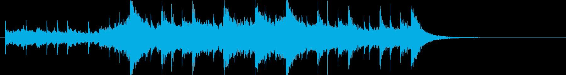 幻想的で壮大なオーケストラOPジングルcの再生済みの波形