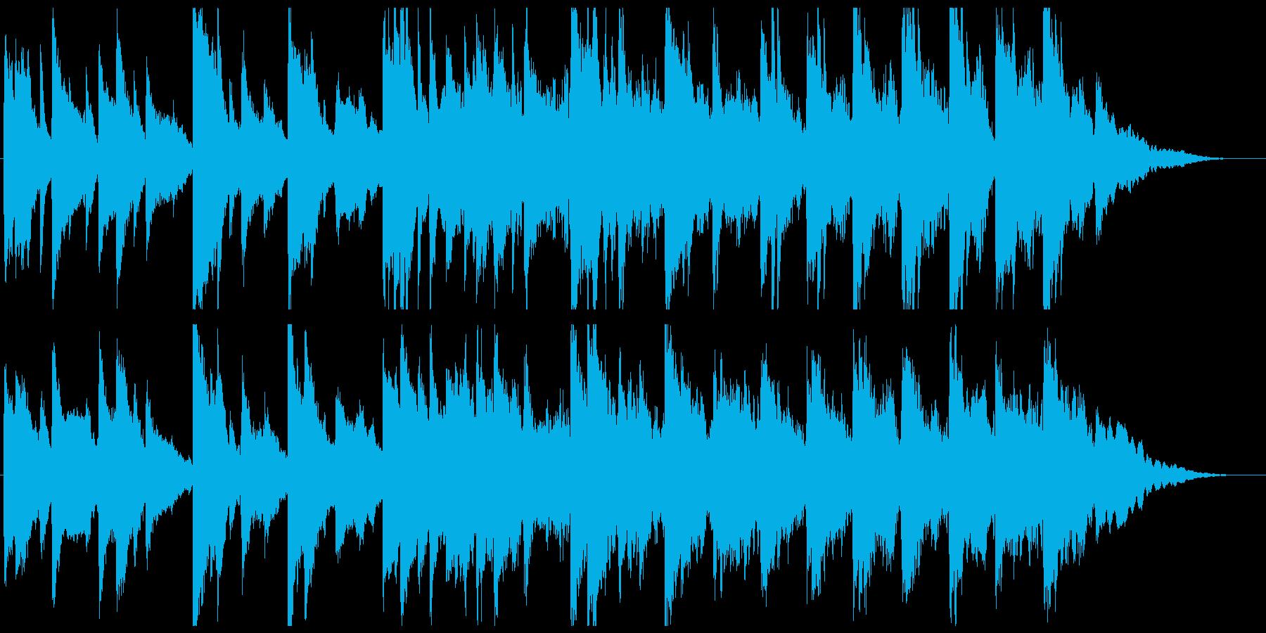 ピアノを使用した感動的な曲、映像等にの再生済みの波形