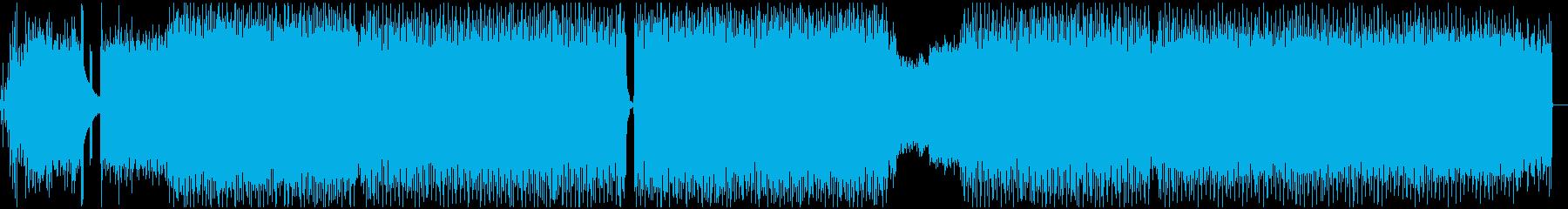 テクノ調ピアノトラックの音源ですの再生済みの波形