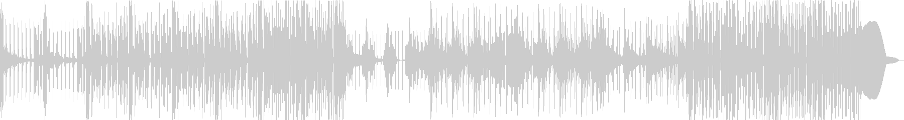 シンセメインの無機質なテクスチャーの未再生の波形