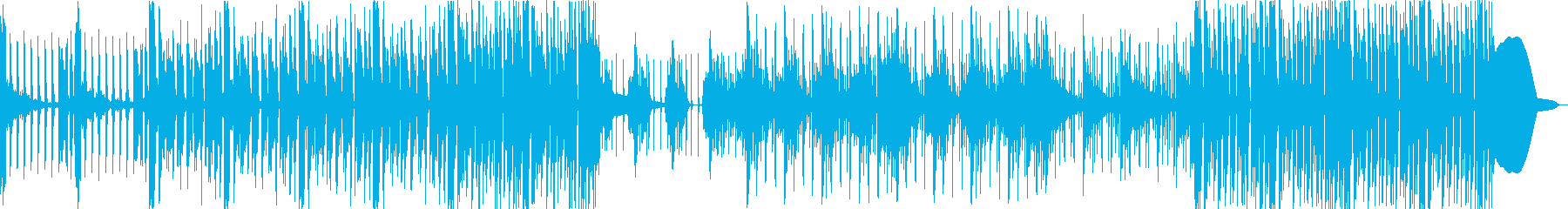 シンセメインの無機質なテクスチャーの再生済みの波形