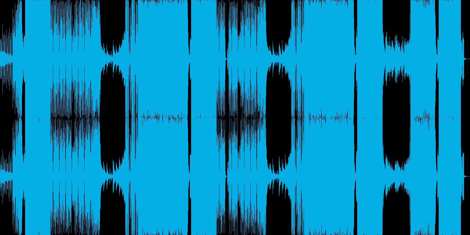 バレンタインEDM/激しいダンス曲の再生済みの波形